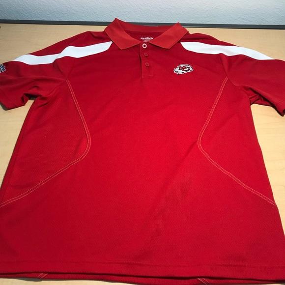 adc4eb51 Reebok Shirts | Kansas City Chiefs Nfl Golf Polo Shirt Red | Poshmark